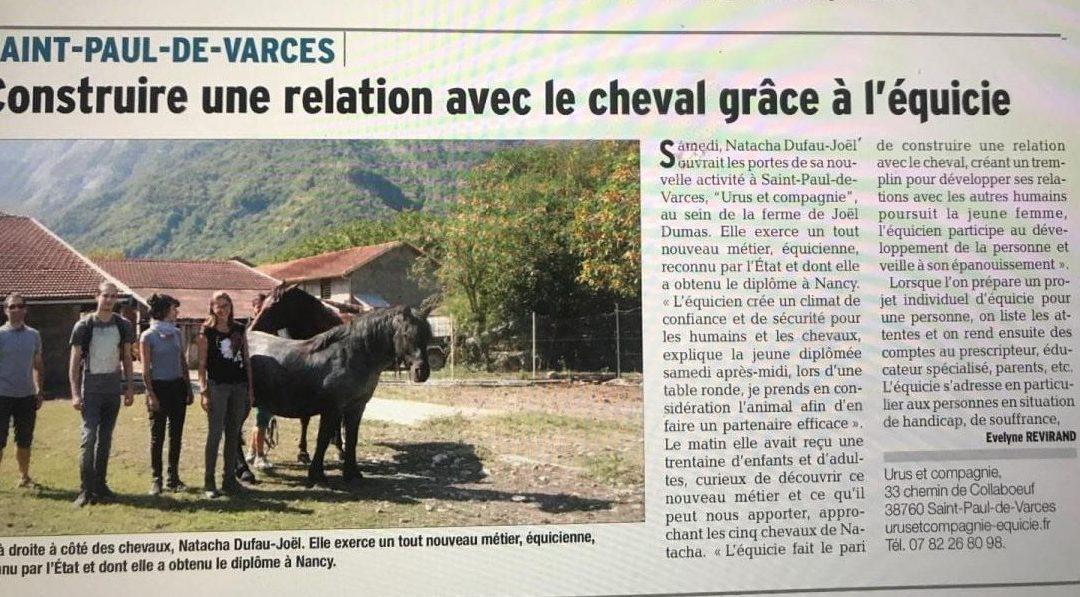 Article du Dauphiné Libéré 2018